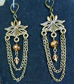 egyptian style topaz earrings for butterbeescraps