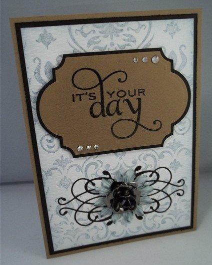 wedding card by butterbeescraps