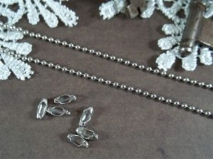 silver ball chain by butterbeescraps