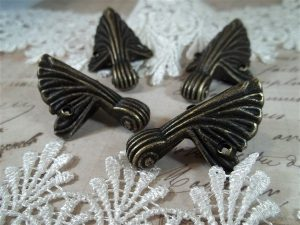 antique bronze box feet by butterbeescraps