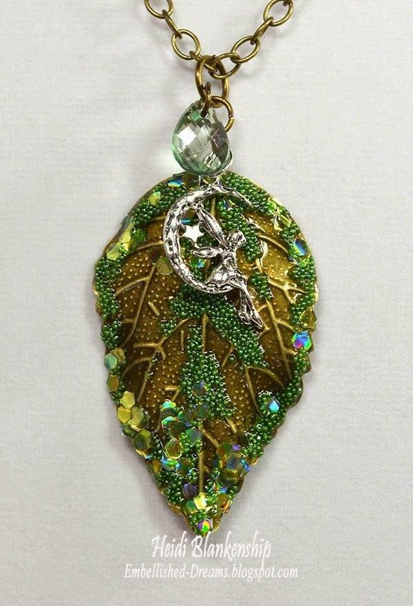 bronze leaf metal filigree embellishments necklace