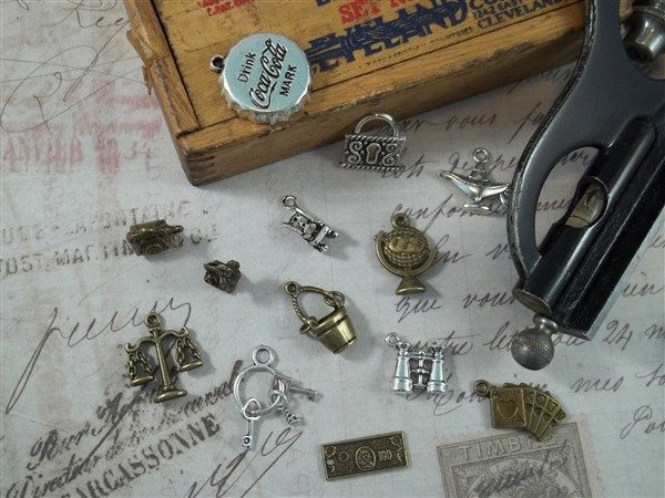 attic treasures tibetan charms by butterbeescraps