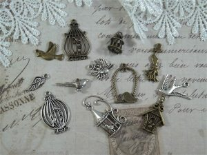 birds of a feather tibetan charms by butterbeescraps