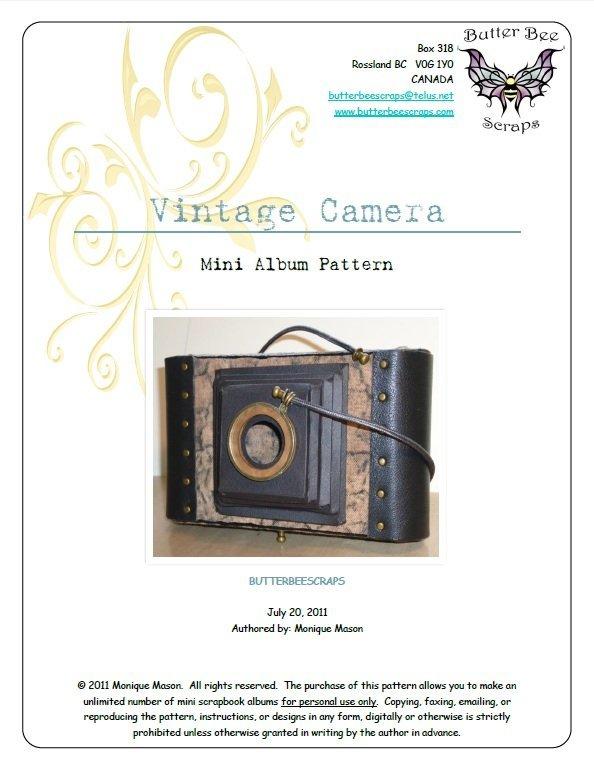 vintage camera scrapbook pattern by butterbeescraps