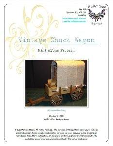 vintage chuck wagon scrapbook pattern by butterbeescraps