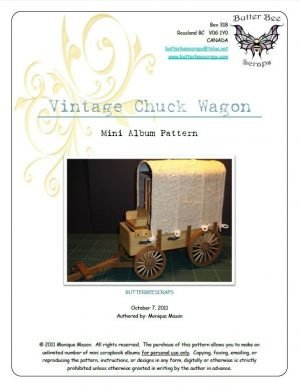 vintage chuck wagon scrapbook pattern by butterbeescraps