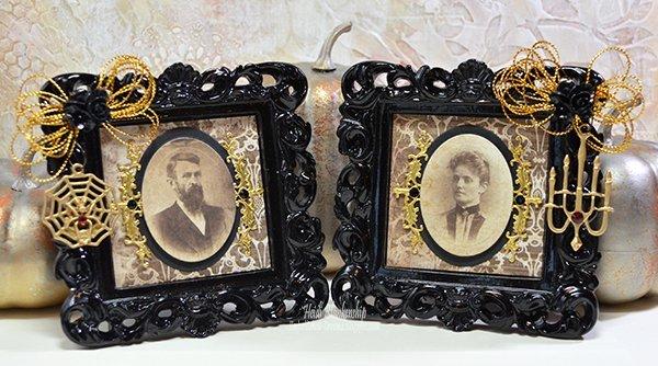 creepy couple altered halloween frames
