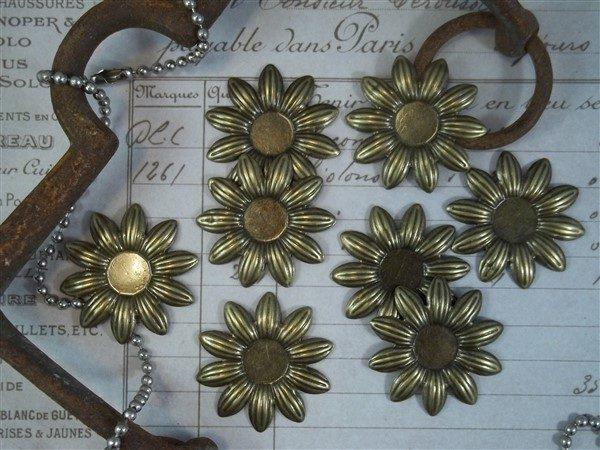 bronze flower metal filigree embellishments 535-b