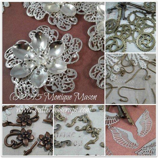 november metal filigree embellishments for butterbeescraps