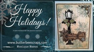 shabby blue and white christmas card 2015