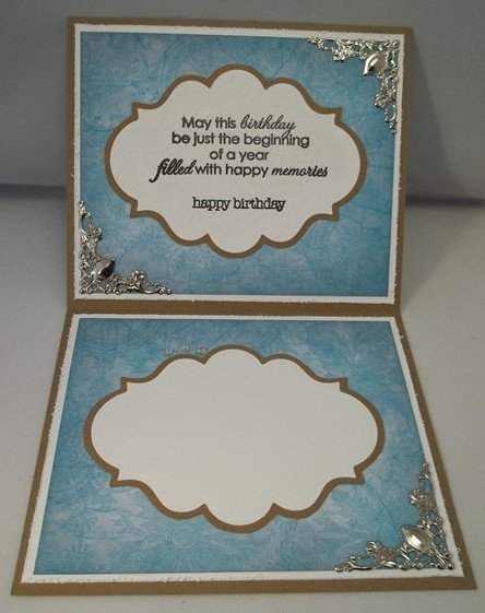 Light Blue Handmade Birthday Card