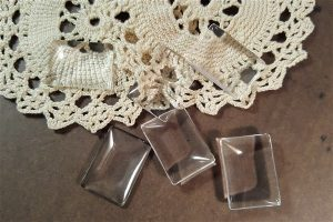 small rectangular glass cabochons
