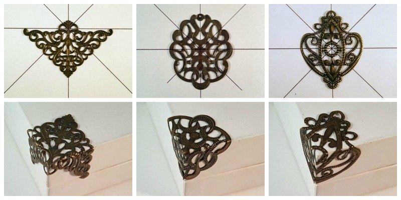 metal filigree box corners