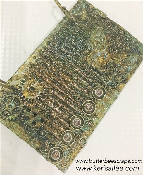 faith mixed media journal cover by keri sallee