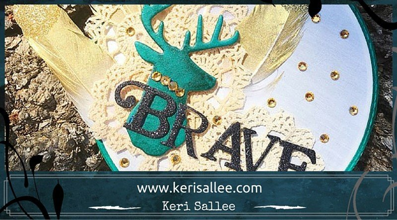 brave altered embroidery hoop