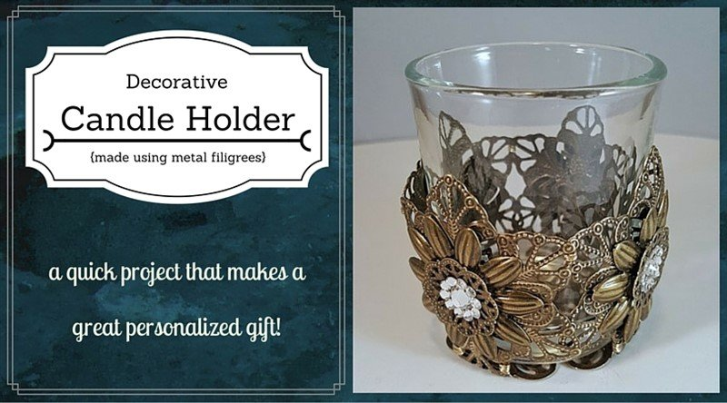 filigree votive candle holder tutorial