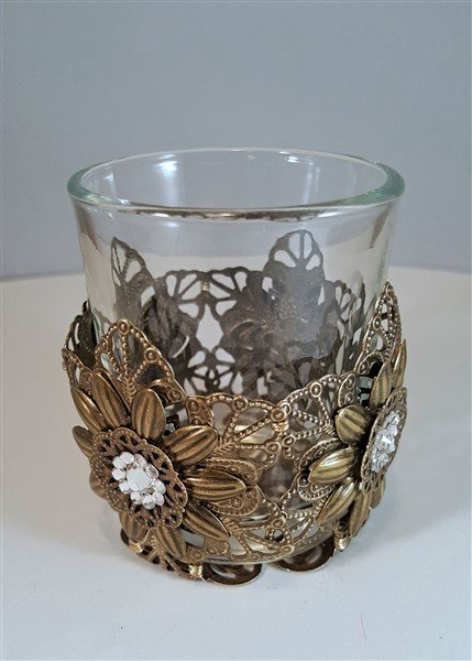 filigree votive candle holder