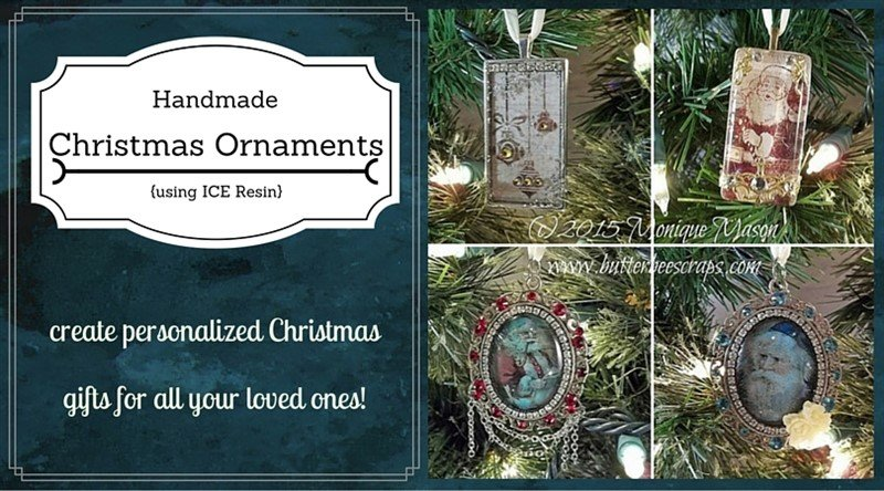 ice resin christmas ornament tutorial