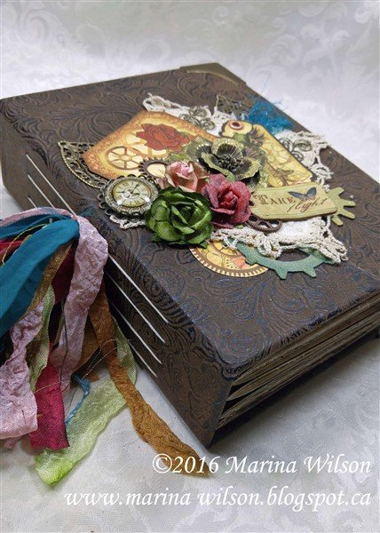 handmade journal by marina wilson