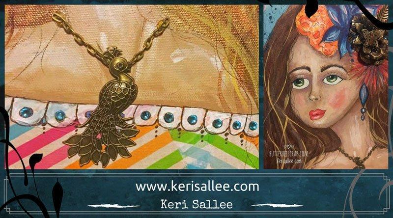 mixed media portrait by Keri Sallee
