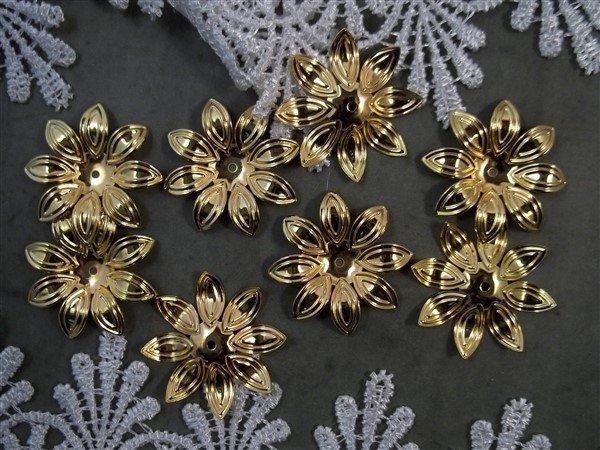 Flower Metal Filigree Embellishment (#025)