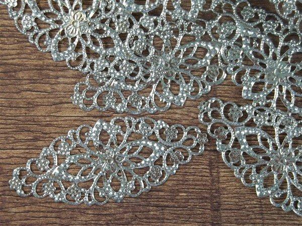 Oval Metal Filigree Embellishment (#806)