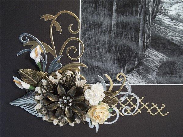 Bronze Leaf Metal Filigree Embellishment (#886-B)