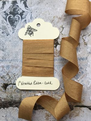 1 Inch Wrinkled Ribbon -Gold (#RB130)