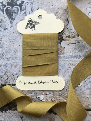 1 Inch Wrinkled Ribbon -Moss (#RB106)