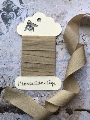 1 Inch Wrinkled Ribbon -Taupe (#RB108)