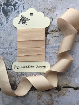 1 Inch Wrinkled Ribbon -Champagne (#RB102)