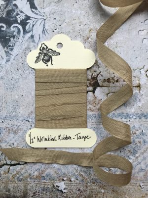 1/2 Inch Wrinkled Ribbon - Taupe (#RB908)