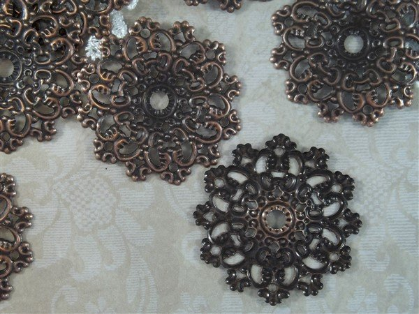 Flower Metal Filigree Embellishment (#286)