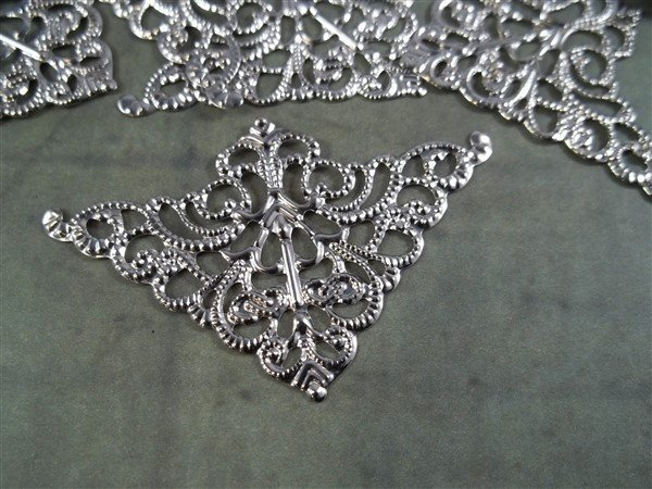Small Corner Metal Filigree Embellishment (#546)