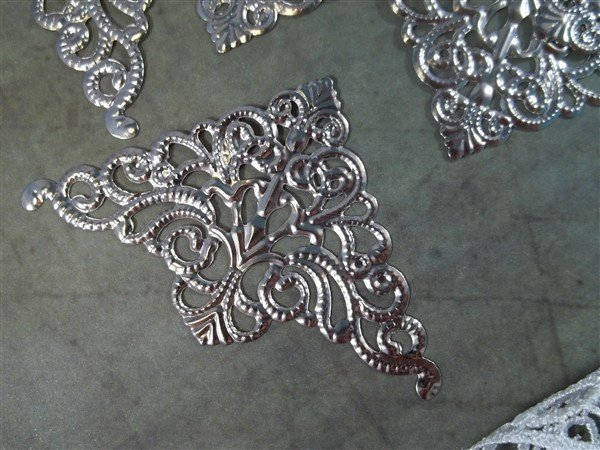 Large Corner Metal Filigree Embellishment (#808)