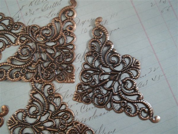 Large Corner Metal Filigree Embellishment (#808)