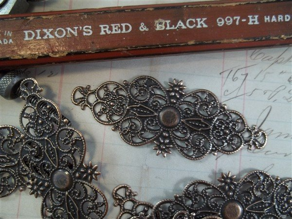Decorative Metal Filigree Embellishment (#809)