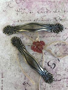 Arch Handle Antique Bronze Drawer Pulls (#HD109-B)