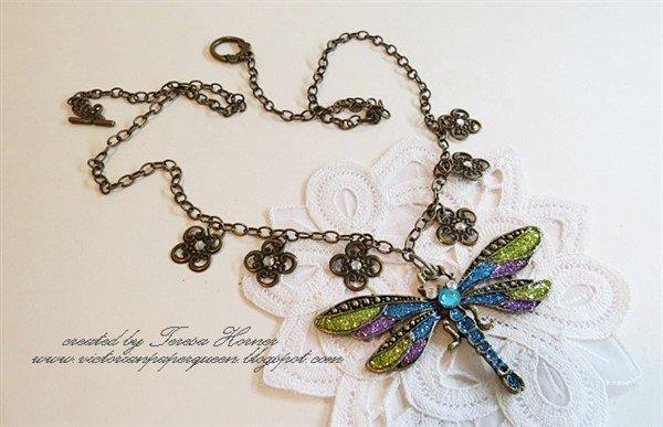 Bronze Dragonfly Tibetan Charms (#J109-B)