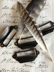Metal Bookplate Drawer Pulls (#HD587-B)
