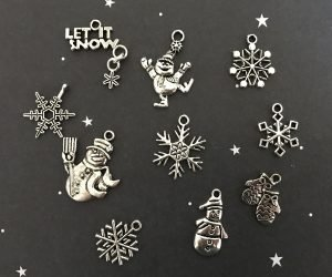 Let It Snow Charm Tibetan Charm Collection
