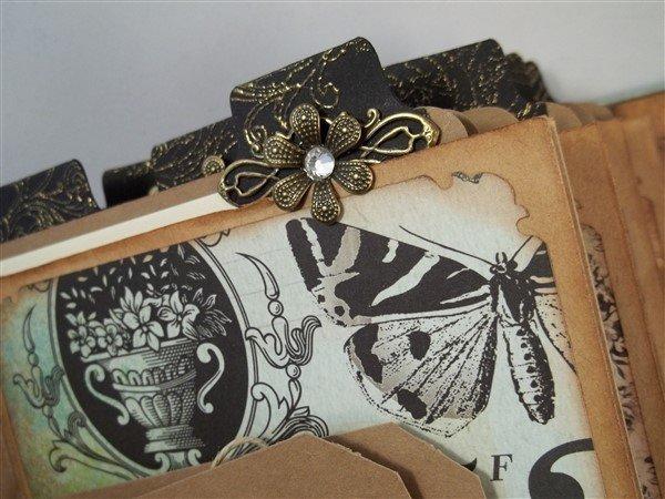 Bronze Flower Metal Filigree Embellishments (#CAP040-B)
