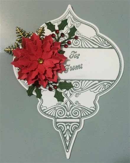 Bronze Snowflake Metal Filigree Embellishment (#203-B)