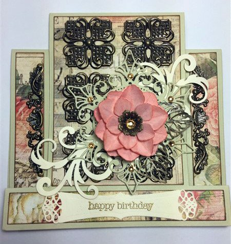Square Metal Filigree Embellishments (#732)